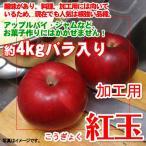 【訳あり】【サビ・キズあり】紅玉りんご 約4kg加工用バラ入り お菓子作り お料理にも最適なりんごです♪ 送料無料
