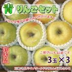 青りんご セット お歳暮 ギフト 約3kg9玉 王林3玉/名月3玉/シナノゴールド3玉