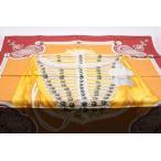 エルメススカーフ オレンジ/赤茶 BRANDEBOURGS