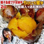 安納芋(あんのういも・ 安納いも)種子島産 産地直送 プチ安納芋2kg 2箱ご購入で送料無料 ちびころ蜜芋2kg