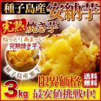 安納芋 焼き芋 3kg(安納芋いも 焼き芋)冷凍やきいも 元祖・冷やし芋 種子島産プレミア蜜芋使用 はなまるマーケットで大絶賛!完熟安納芋焼き芋3kg