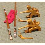 天然竹竿掛け1・5本もの + 木製万力セット
