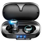 ワイヤレスイヤホン bluetooth5.0 iPhone android Siri対応 高音質 ブルートゥース イヤホン カナル型  AAC対応 両耳 左右分離 防水 スポーツ 送料無料 (x100)