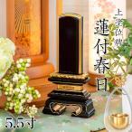 位牌 上塗位牌 蓮付春日(れんつきかすが) 5.5寸(高さ:26.0cm) 別上塗り