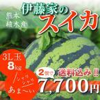 伊藤家のスイカ3L玉2個セット 大玉 熊本県植木スイカ(植木西瓜)