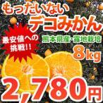 ご自宅用訳あり 熊本県産 もったいない!デコみかん8kg【デコポンと同品種不知火】