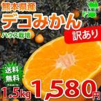デコポン と同品種 デコみかん 訳あり 熊本県産 1.5kg ハウス栽培 複数購入で特典満載 ミカン 蜜柑