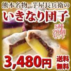 《送料無料》熊本名物 5種類の味が楽しめる芋屋長兵衛の「いきなり団子」20個(5種)