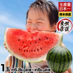送料無料 訳あり品 スイカ日本一の産地・熊本産ジャンボすいか1玉(約6.8kg前後-約8kg前後) 甘くてみずみずしい 7-14営業日以内に出荷予定(土日祝日除く)
