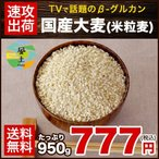 国産大麦 米粒麦 たっぷり950g  送料無料 今話題 β-グルカン 豊富 3-7営業日以内に出荷予定(土日祝日除く) |
