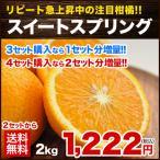 2セット以上購入で送料無料 3セット買えば1セット分増量 熊本県産 新種の柑橘 スイートスプリング3L-Lサイズ2kg(サイズ不揃い)1月中旬-2月上旬頃より順次出荷