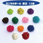 ハーバリウム 材料 花材 ミニラタボール カラフルラタンボール 籐玉13種類から選べる 10個セット フラワーショップ アイズ