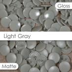 ライトグレー プラスチックスナップ 50組セット