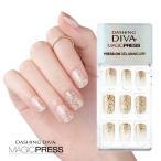 ダッシングディバ マジックプレス DASHING DIVA MagicPress MDR208-DURY  オリジナルジェル ネイルチップ Golden Glamour