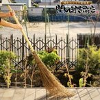 竹箒 竹ほうき 5段 【即納】  穂先たっぷり 高級手編み日光箒   【竹ぼうき 竹ほうき 庭 芝 落ち葉 ホーキ】