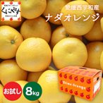 「お試しナダオレンジ2×4」 送料無料 ,お試し品ナダオレンジ8kg(2kg×4箱)ナダオレンジ(別名:河内晩柑,かわちばんかん,宇和ゴールド