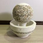 噴水 ファウンテン 水栓鉢 デザイン A ポンプ付き 球体 オブジェ おしゃれ 南国リゾート サロン 室外 バリ 庭池