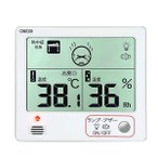 室内用デジタル温・湿度計 ホワイト CR-1200W クレセル ポイント5倍