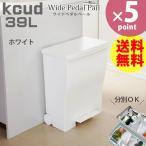 kcud(クード) ワイドペダルペール 39L オールホワイト[岩谷マテリアル]【ポイント10倍】