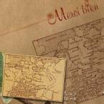 【東京アンティーク】 南欧海路 地図 スタンプ はんこ