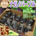 """【送料無料】長野産 """"ナガノパープル"""" 秀品 10pc 約3.5kg【予約 8月下旬以降】"""