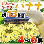 """【緊急スポット】【送料無料】""""バナナ"""" 4〜6房入り 約13kg【5月25日以降発送】"""