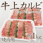 """腿腹肉 - 【送料無料】""""牛上カルビ 焼肉用"""" 三角バラ又はかいのみ 約1kg(約500g×2pc)"""