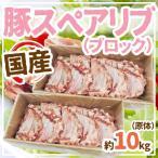 """国産""""豚スペアリブ ブロック"""" 約10kg 原体"""
