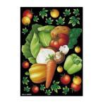 送料無料 デコシールA4サイズ 野菜集合 チョーク 40272