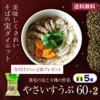 ショッピングダイエット TVで紹介!蕎麦の実ぷちぷち食感 レジスタントプロテイン ダイエットスープ やさいすうぷ60+2袋 1食49kcalで満足