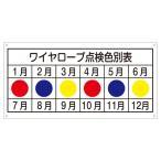 玉掛ワイヤーロープ標識 ワイヤーロープ点検色別表 KY-105