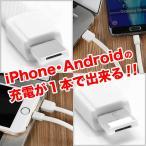 2in1 両面ケーブル iPhone/android両方に使える 充電ケーブル アイフォン・アンドロイド USBケーブル