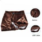 電気毛布 肩掛け 掛け敷き毛布 USB発熱ひざ掛け 電気ブランケット 暖房 無地 防寒 冷え対策