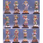木彫仏像/十二神将(十二体一組)桧木6.0寸彩色干支有り【受注生産】