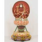 仏像 愛染明王 身丈9寸 総高90cm 桧木彩色