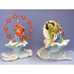 木彫仏像/風神雷神一対樟木総高65cm【数量限定1セット】