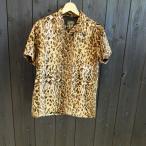 SKULL FLIGHT 半袖オープンカラーシャツ(leopard)