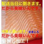 ノルウェー産 トロサーモン【刺身用】ブロック1kg