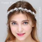 Yahoo!Kuroneko yaウェディング リボンカチューシャ フラワーモチーフ クリスタル ブライダル ヘアーアクセサリー 結婚式 披露宴 教会挙式 パーティー 花嫁