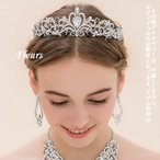 ウェディングティアラ プリンセス クリスタル 花嫁 ヘアー アクセサリー 教会挙式 結婚式