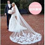ショッピングウェディング ウェディングベール ロング 3m 安い コーム付き 刺繍 結婚式 教会挙式 披露宴 送料無料