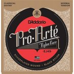 D'Addario EJ49 Pro-Arte Black Nylon, Normal Tension《クラシックギター弦》 【ネコポス】