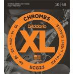 D'Addario ECG23 Chromes Flat Wound,Extra Light, 10-48 《エレキギター弦》 ダダリオ  【ネコポス】