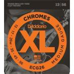 D'Addario ECG26 Chromes Flat Wound, Medium, 13-56 《エレキギター弦》 ダダリオ  【ネコポス】