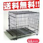 PROスチールケージ LL 網スノコ付き (大型犬用/サークル・ケージ/ゲージ/Circle・Cage)(犬用品/ペット用品)