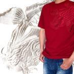 ショッピング和柄 和柄 Tシャツ 半袖 メンズ 大きいサイズ 悪羅悪羅系 オラオラ系 刺繍 鯉 昇り鯉 半袖T  Mサイズ/Lサイズ/2Lサイズ 鯉柄 mts192
