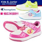 ショッピングスニーカー Champion CPN J194 チャンピオン キッズ ジュニア レディース スニーカー 幅広3E 子供靴 女の子 ドット 水玉 シューズ アサヒ