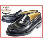 合成皮鞋 - メーカー取寄せ商品 HARUTA 6560 (4E) ハルタ メンズローファー 黒(クロ) 24.5-28.cm