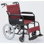 介助式折りたたみ車椅子 アミー16/ルビーレッド(赤) アルミ製 ノーパンク仕様/持ち手付き 〔MIWA〕 ミワ MW-16AN〔代引不可〕