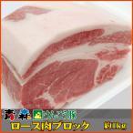 青森 けんこう 豚 ロース ブロック 約1kg (500g x 2) | お中元 プレゼント ギフト 後払い 可能 国産 冷凍